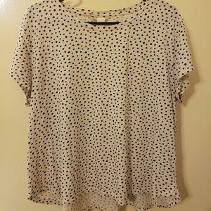 Black and white polka dot top